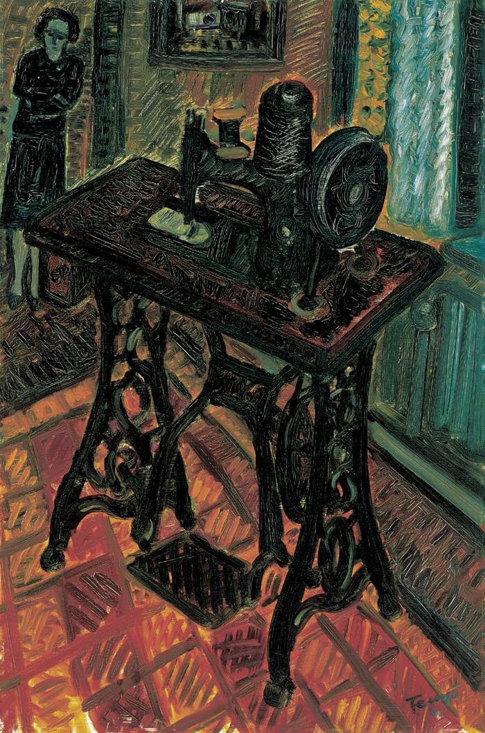 The Black Sewing Machine 1941 | Andor Endre Fenyo | oil painting