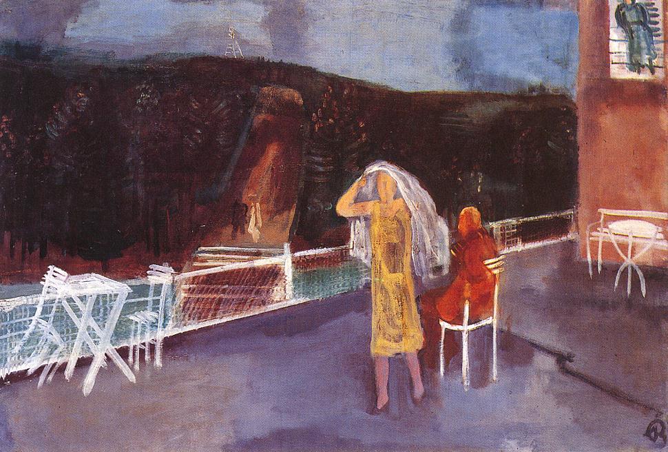 On the Terrace 1930 | Aurel Bernath | oil painting