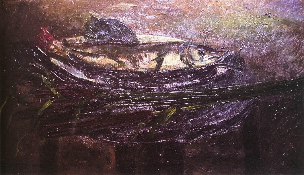 Pike on a Tray 1942 | Aurel Bernath | oil painting