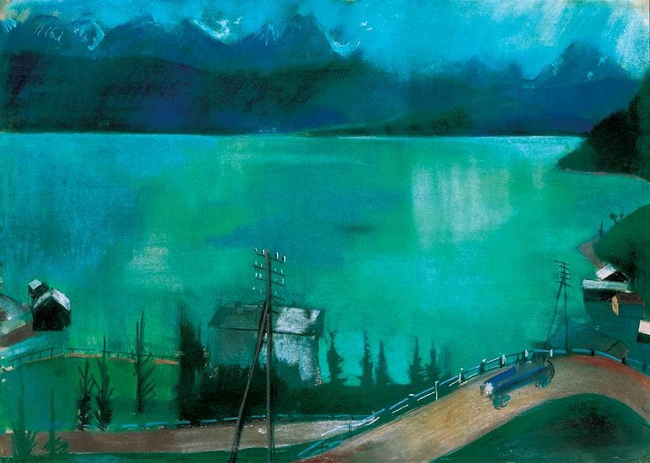 Road at the Lakeside | Aurel Bernath | oil painting