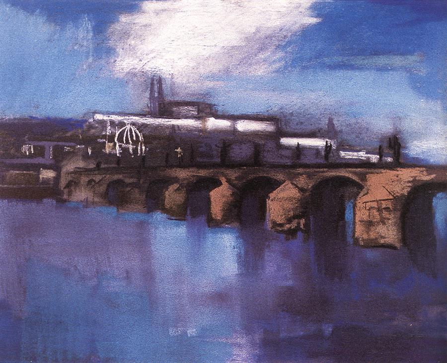 The Charles Bridge in Prague 1925 | Aurel Bernath | oil painting
