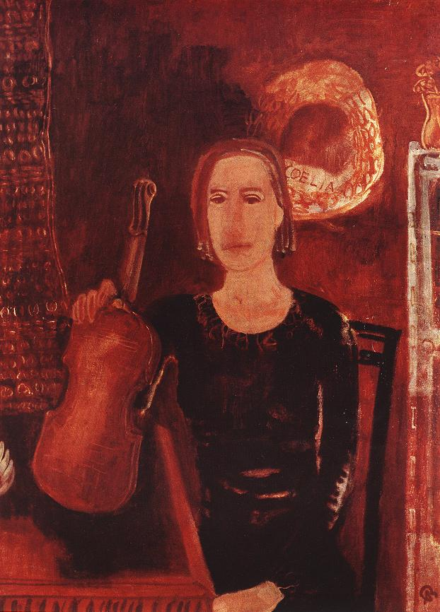 Violinist 1931 | Aurel Bernath | oil painting