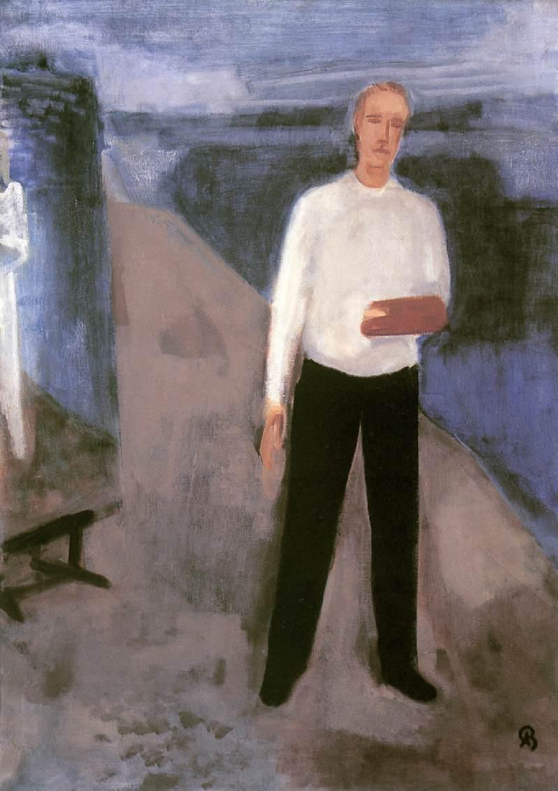 Self portrait c 1930 | Aurel Bernath | oil painting