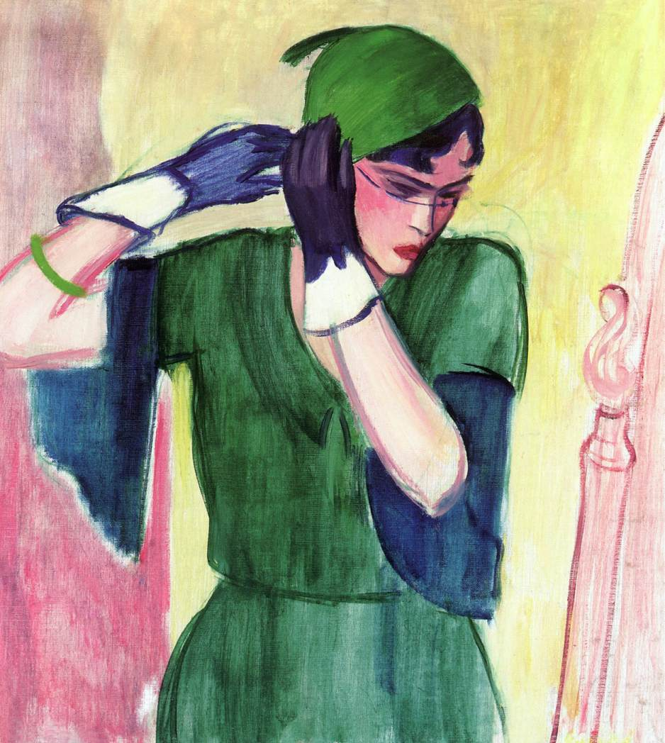 Roman Lady in Green | Aurel Emod | oil painting