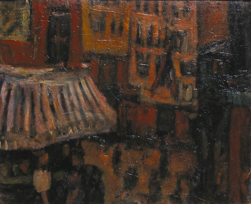 Mouffetard Street 1925 | Bela Czobel | oil painting