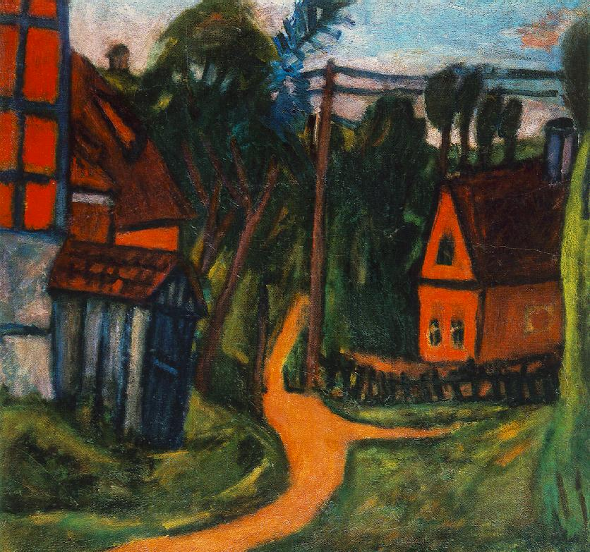 Confines of the Village 1922 | Bela Czobel | oil painting