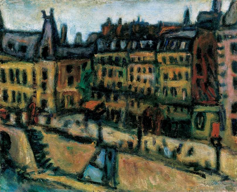 Bank of the Seine in Paris 1925 | Bela Czobel | oil painting