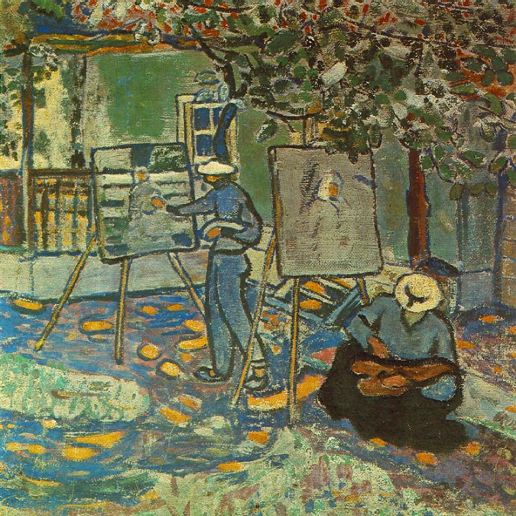 Painters in Open Air 1906 | Bela Czobel | oil painting