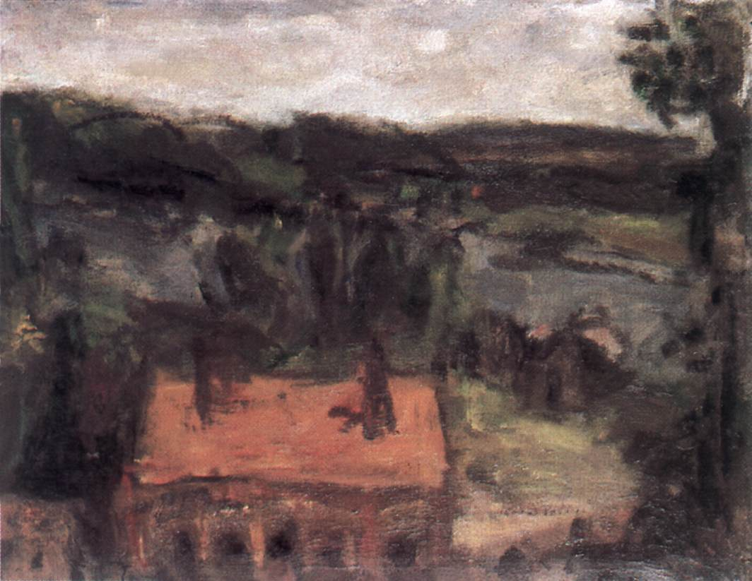 Landscape c 1935   Bela Czobel   oil painting
