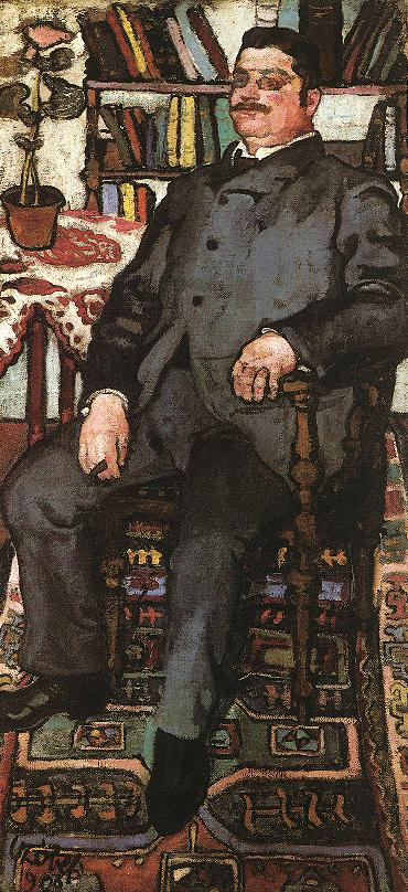 Sitting Man 1906 | Bela Czobel | oil painting