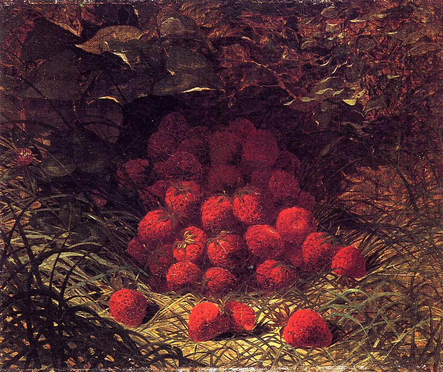 Strawberries   William Mason Brown   oil painting