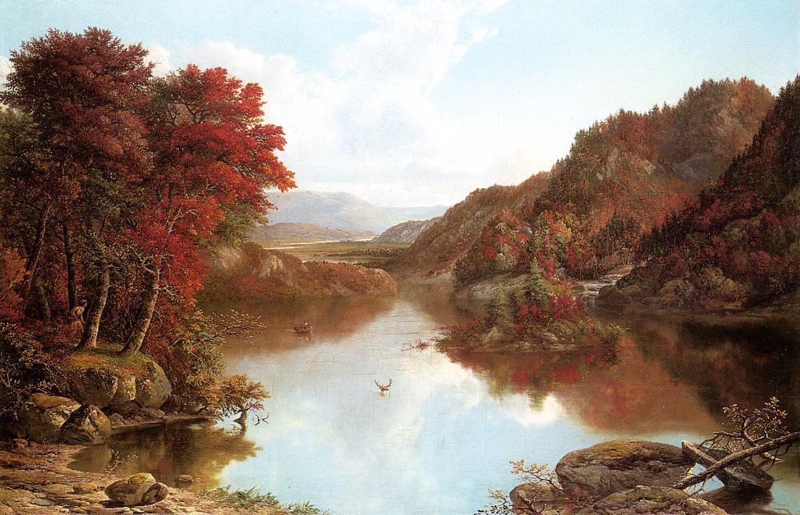 Autumn Landscape   William Mason Brown   oil painting