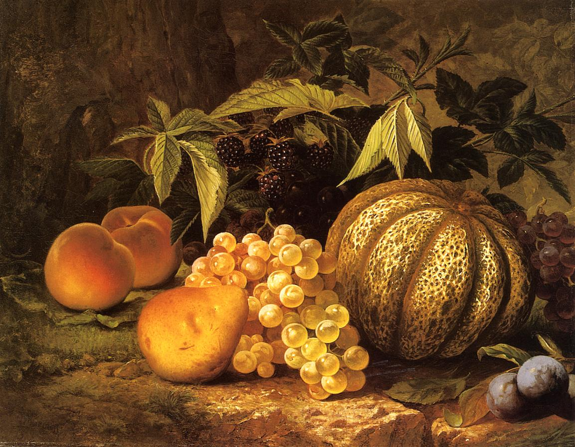 Still Life with Cantaloupe   William Mason Brown   oil painting