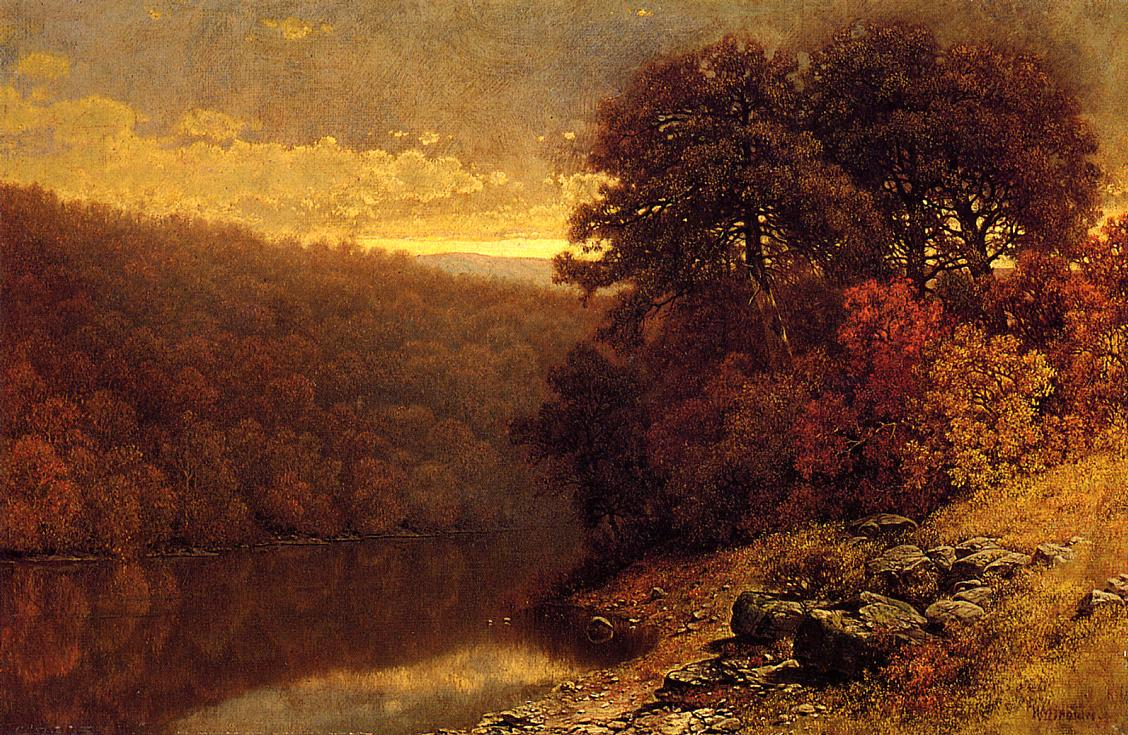 October on Great Otter Creek Vermont   William Mason Brown   oil painting