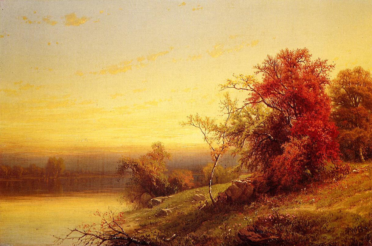 Autumnal Landscape   William Mason Brown   oil painting