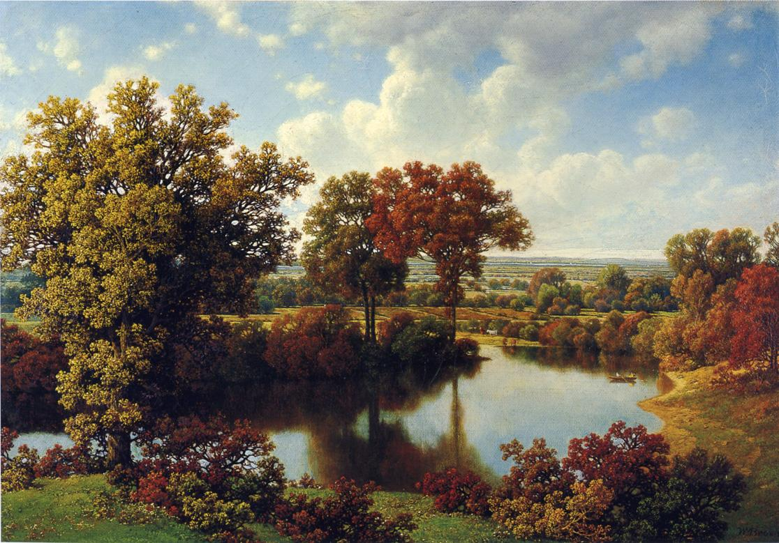 Autumn Reflections   William Mason Brown   oil painting