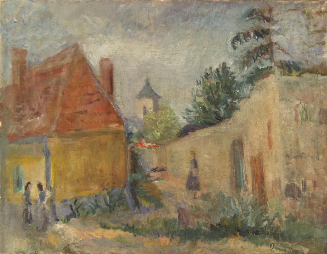 Street at Szentendre 1938 | Denes Rudolf Diener | oil painting