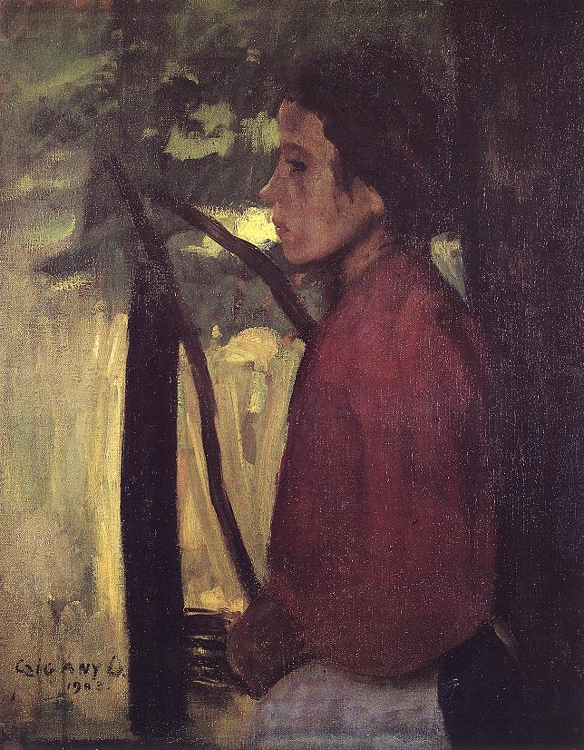 Portrait of a Girl (Rapt in Thought) 1903 | Dezso Czigany | oil painting