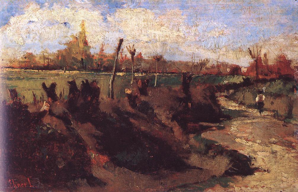 Landscape Study 1880-87 | Ebner Lajos Deak | oil painting