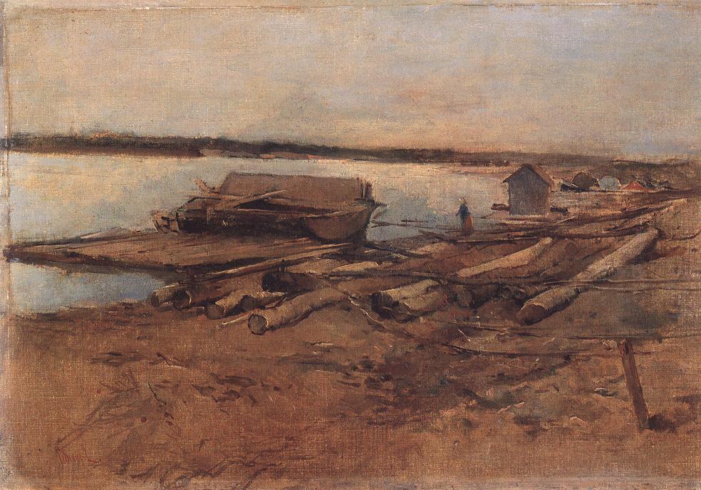 Riverscape 1877 | Ebner Lajos Deak | oil painting