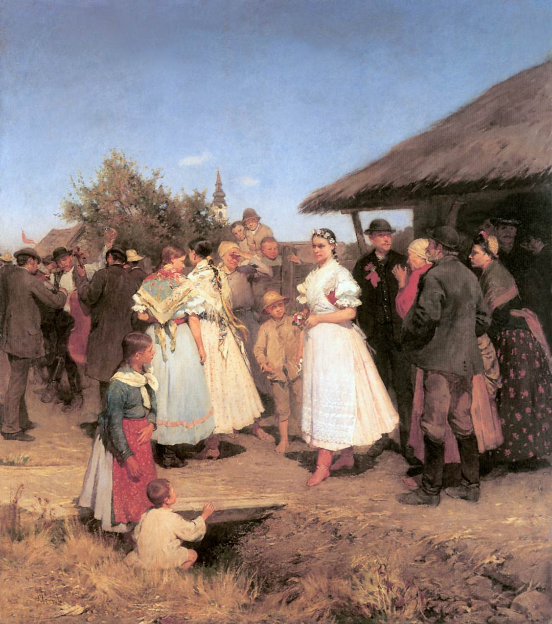 Marriage Procession 1888 | Ebner Lajos Deak | oil painting