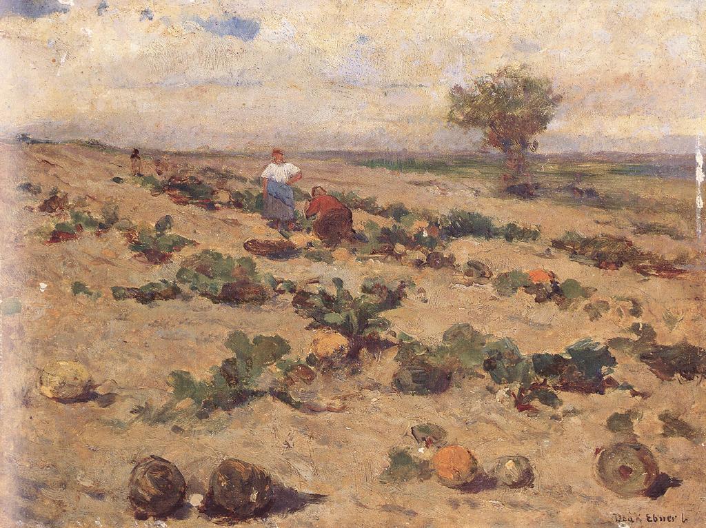 Melon Field 1880-87 | Ebner Lajos Deak | oil painting
