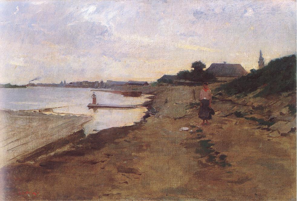Riverside 1877-80 | Ebner Lajos Deak | oil painting