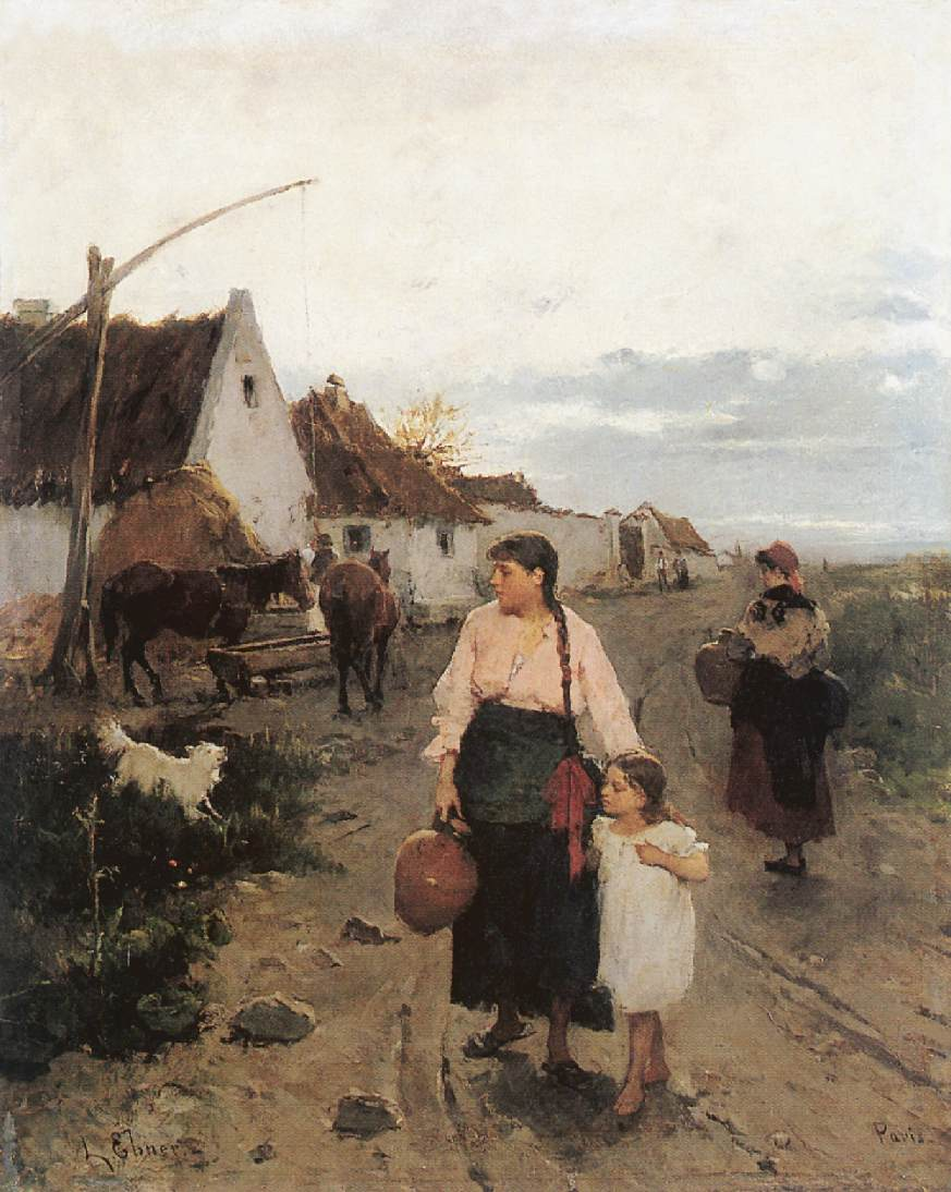On the Fringe of Village 1880 | Ebner Lajos Deak | oil painting