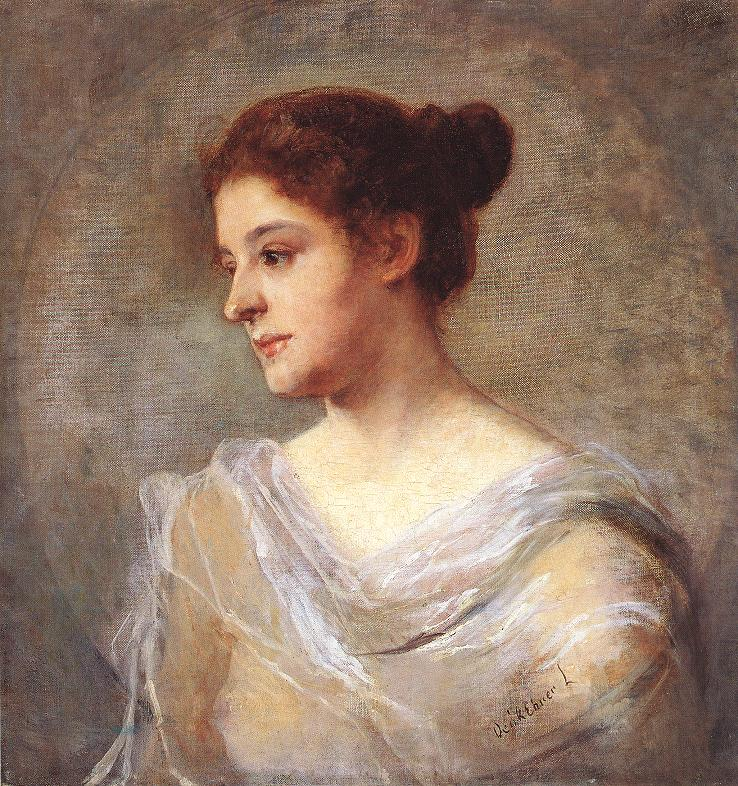Portrait of a Woman 1900 | Ebner Lajos Deak | oil painting