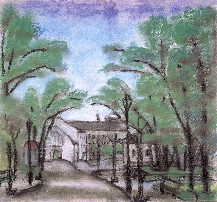 Walkway in the Park | Ede Bohacsek | oil painting