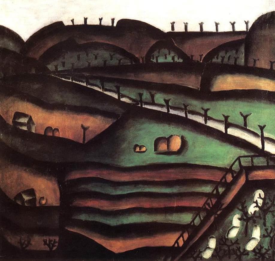 Landscape 1913 | Ede Bohacsek | oil painting