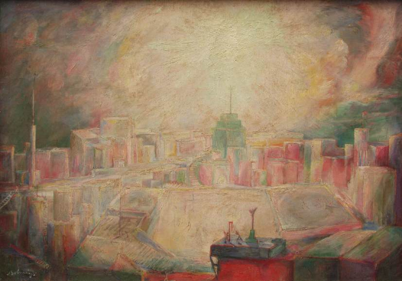 Judgement (Light-City cycle) 1933 | Ferenc Bolmanyi | oil painting