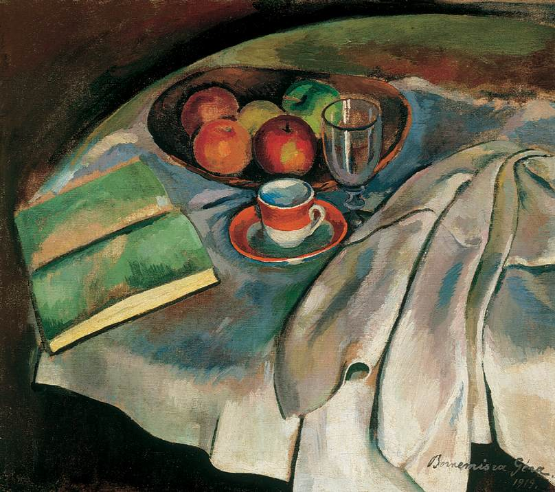 Still life with White Tablecloth 1919 | Geza Bornemisza | oil painting