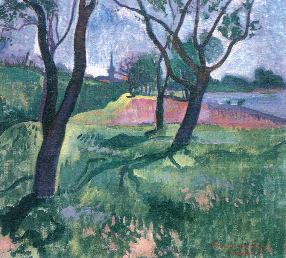 Trees in the Wet Grass 1908 | Geza Bornemisza | oil painting