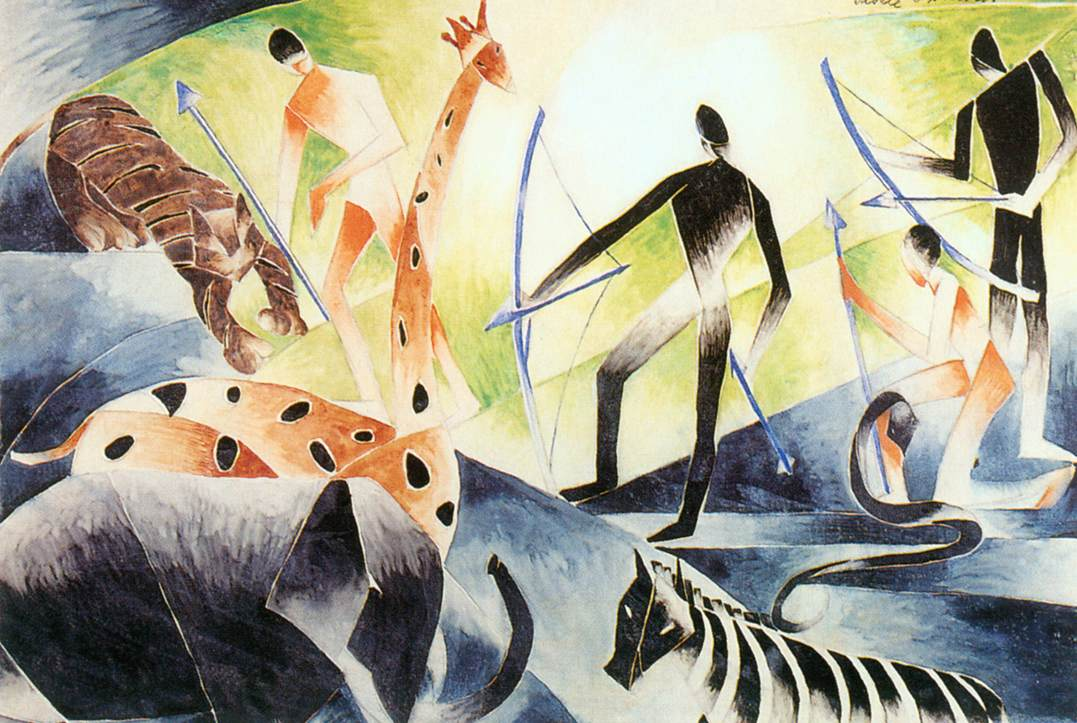 Hunting 1960 | Gizella Domotor | oil painting