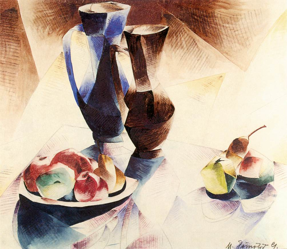 Still-life with Two Jugs 1924 | Gizella Domotor | oil painting