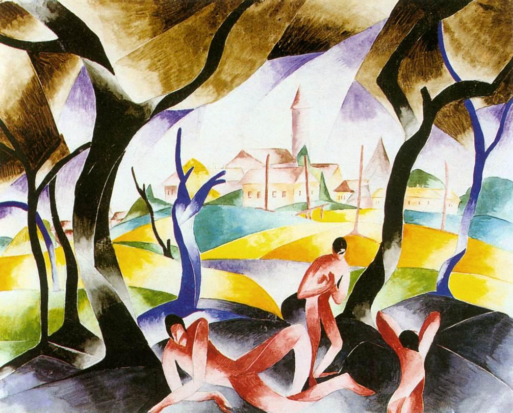 Nagybanya 1924 | Gizella Domotor | oil painting
