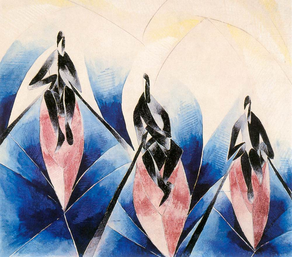 Brasil (Rowers) 1935 | Gizella Domotor | oil painting