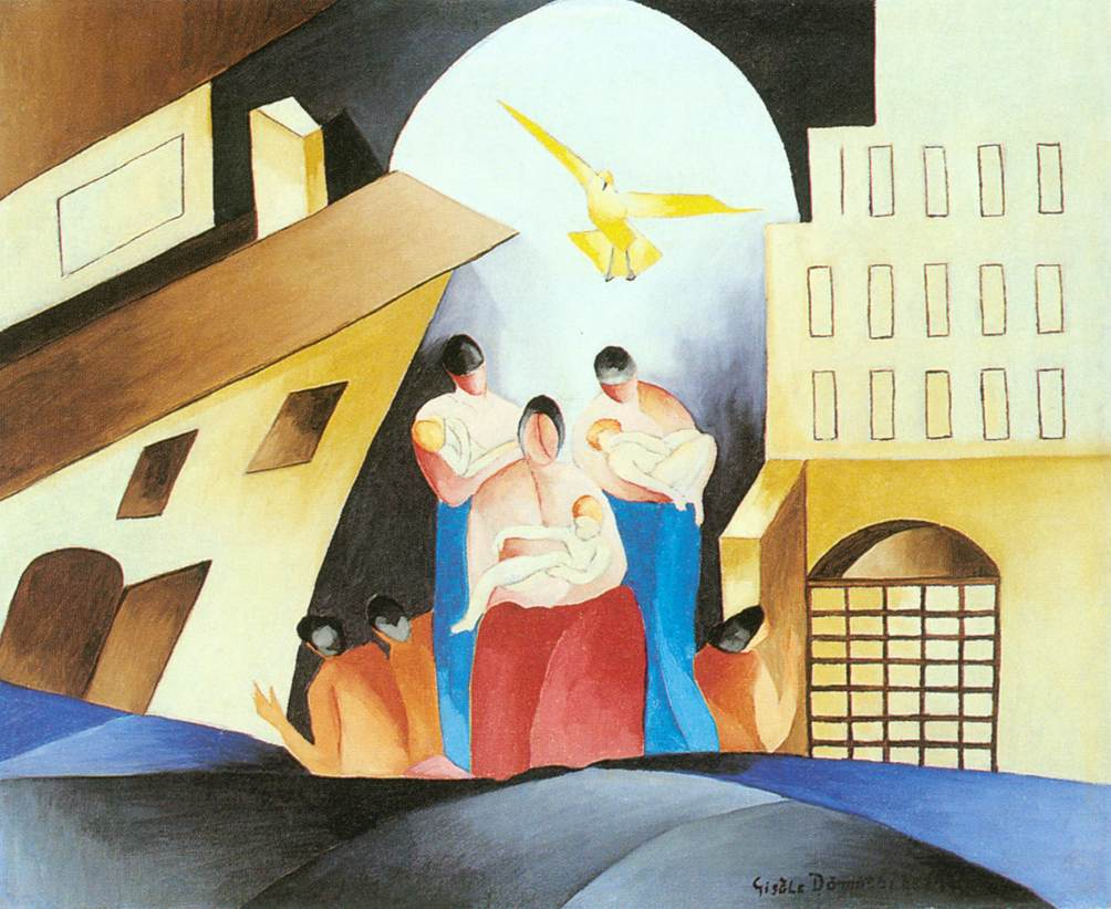 Mothers 1950 | Gizella Domotor | oil painting
