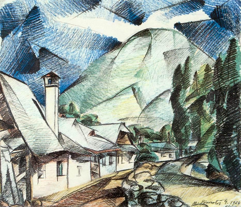 Street in Nagybanya 1924 | Gizella Domotor | oil painting