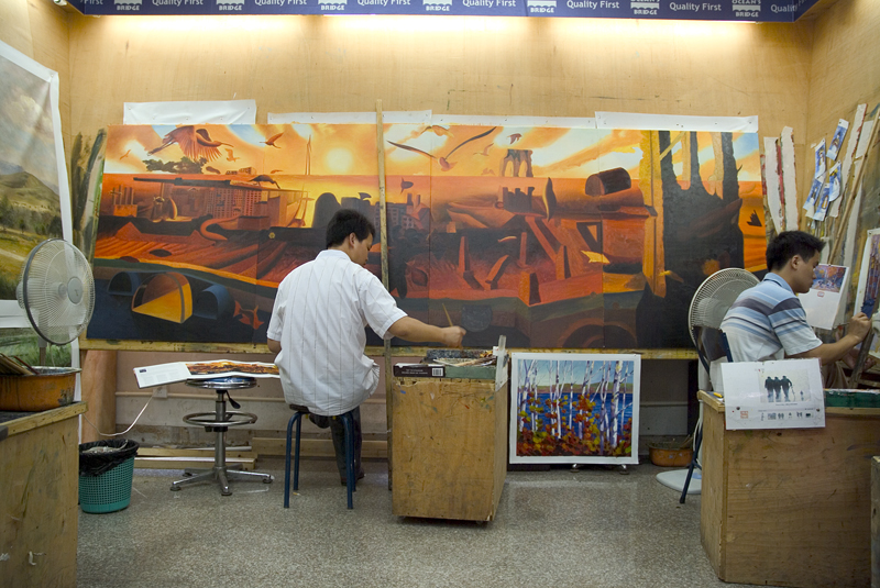 Painting a large multi piece painting
