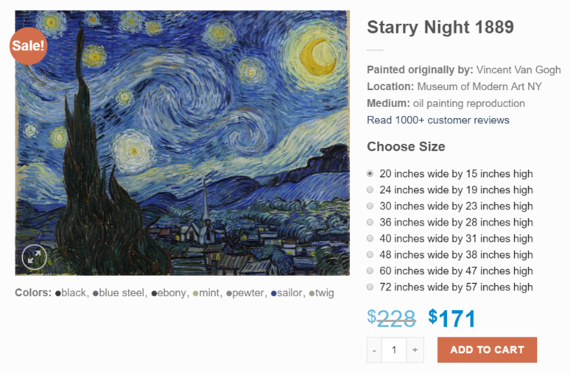 Large Starry Night painting