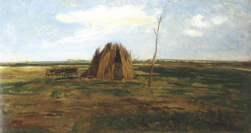 Landscape 1878   Gyula Agghazy   oil painting