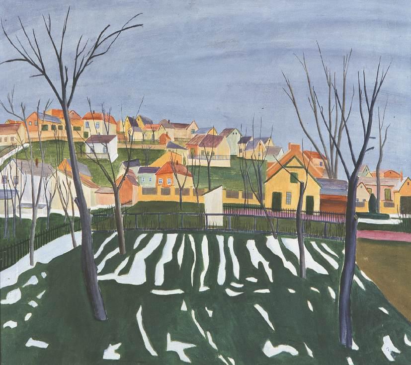 March (Snowbreak) 1932 | Gyula Czimra | oil painting