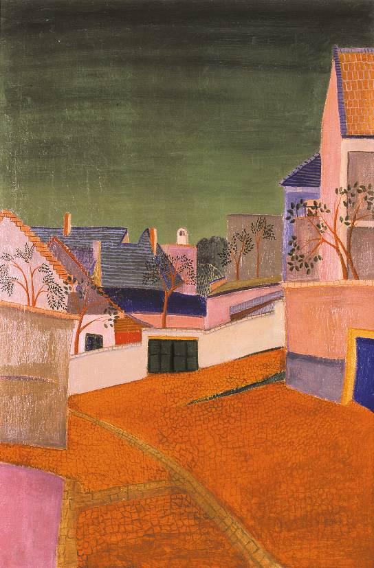 View of Szentendre (Gozhajo Street) 1932 | Gyula Czimra | oil painting