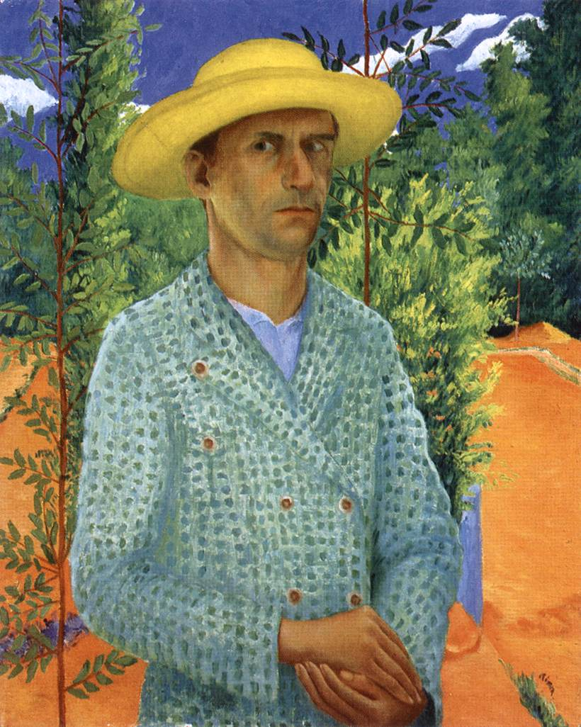 Self portrait with Straw Hat 1934 | Gyula Czimra | oil painting