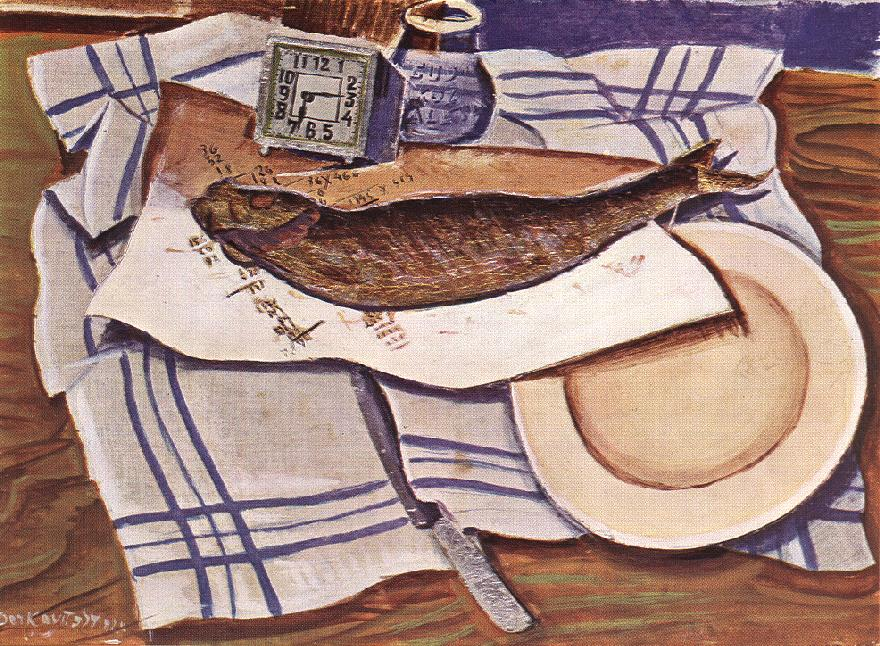 Still-life with Fish I 1928 | Gyula Derkovits | oil painting