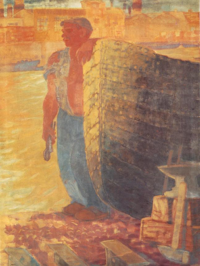 Boat Smith 1934   Gyula Derkovits   oil painting