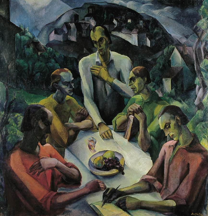 The Last Supper 1922 | Gyula Derkovits | oil painting
