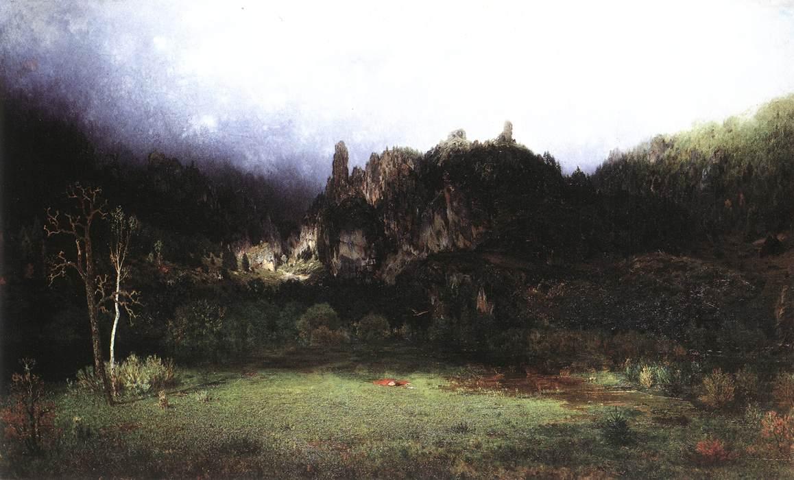 Environment of Szinyei Lipocz 1873 | Gyula Gundelfinger | oil painting